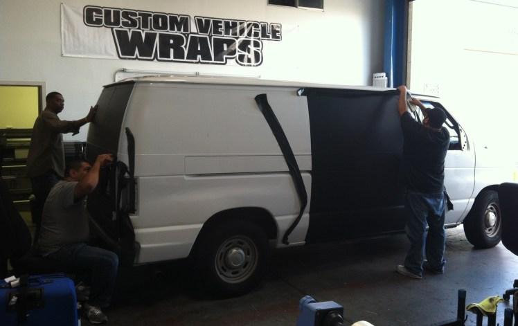 Matte Black Van Wrapping