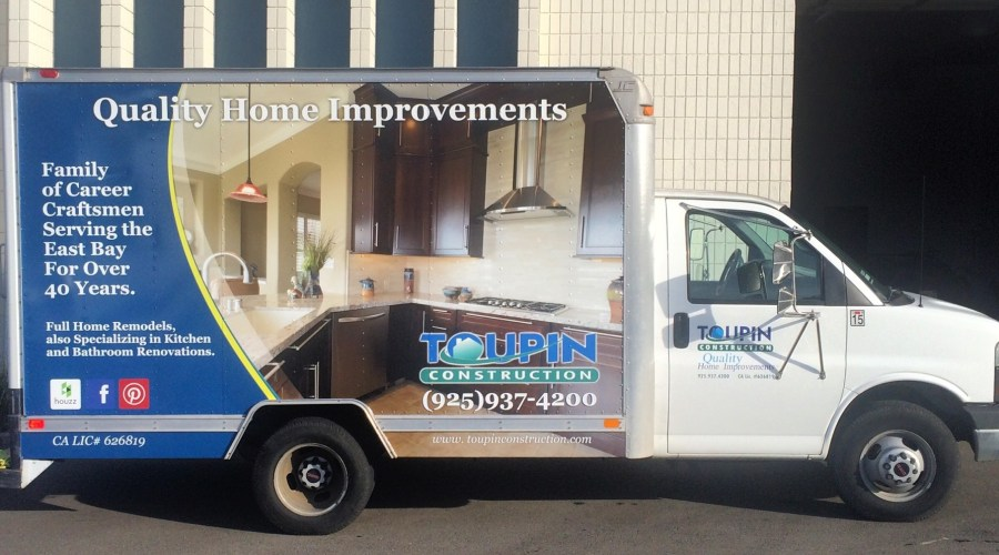 Box Truck Wrap for Toupin Construction