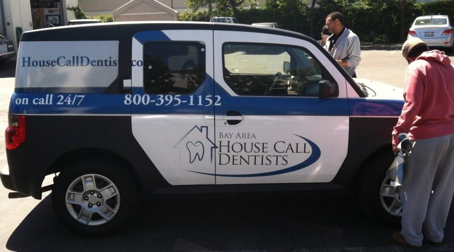 Car Wrap for Bay Area House Call Dentists