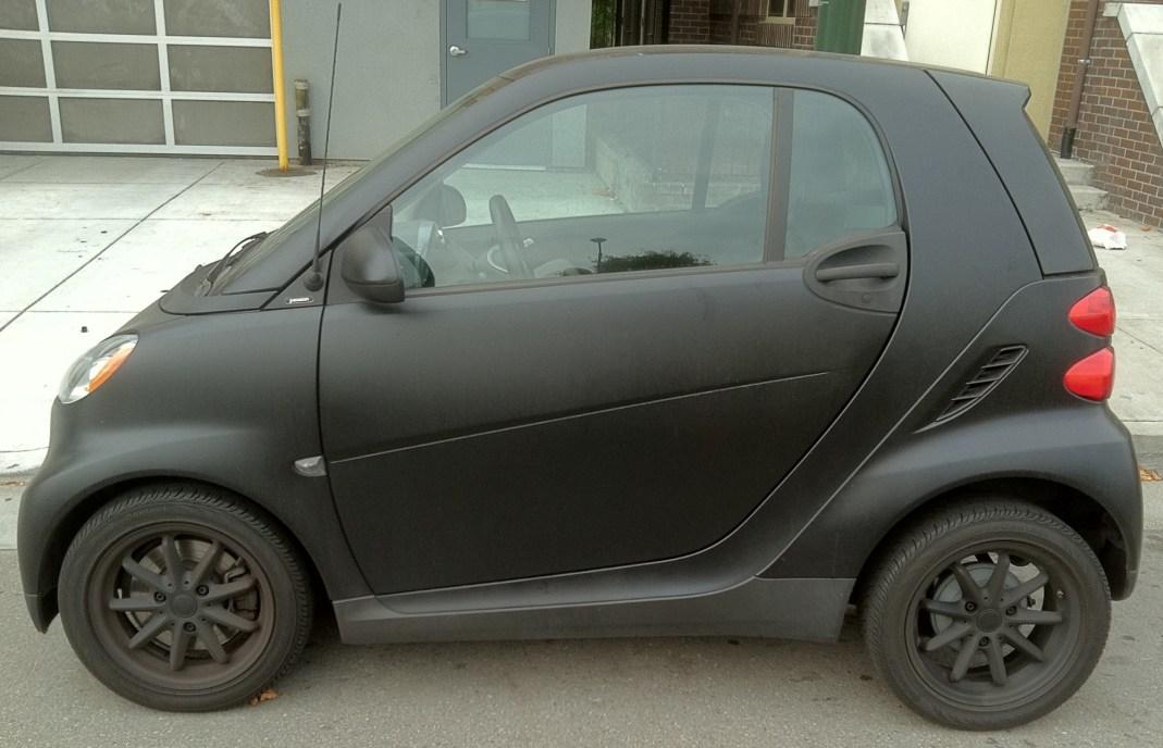 matte black smart car wrap-01