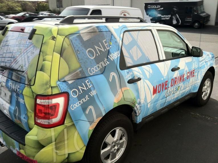 Suv Brand Wrap O N E Coconut Water Custom Vehicle Wraps