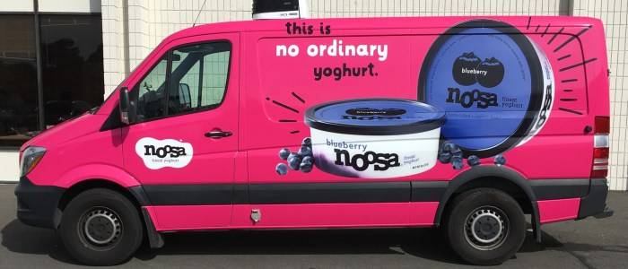 Delivery Van Wrap for Noosa Yoghurt