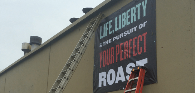 Large Banners for America's Best Coffee Roasting Company