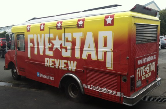 five star food truck wrap