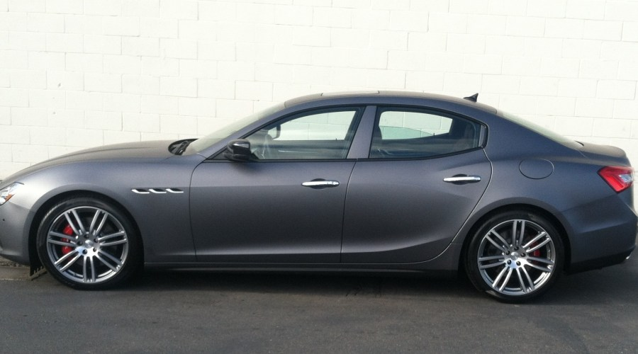Matte Grey Maserati Car Wrap