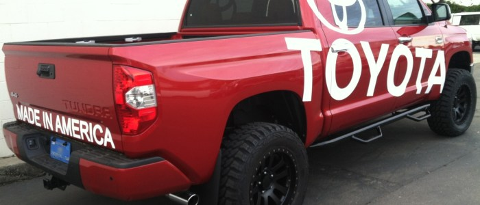Truck Wrap Graphics for Toyota