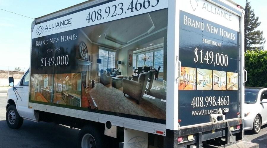 Alliance Homes Box Truck Wrap
