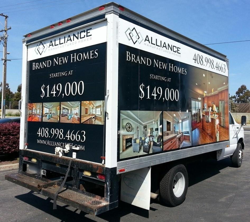 alliance box truck wrap