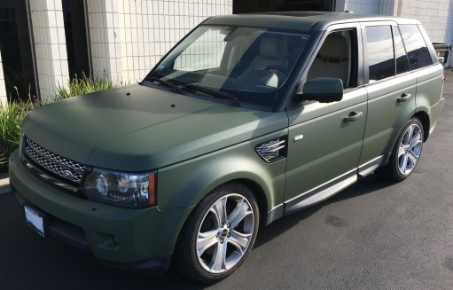 Matte Green Color Change for Land Rover – Custom Vehicle Wraps