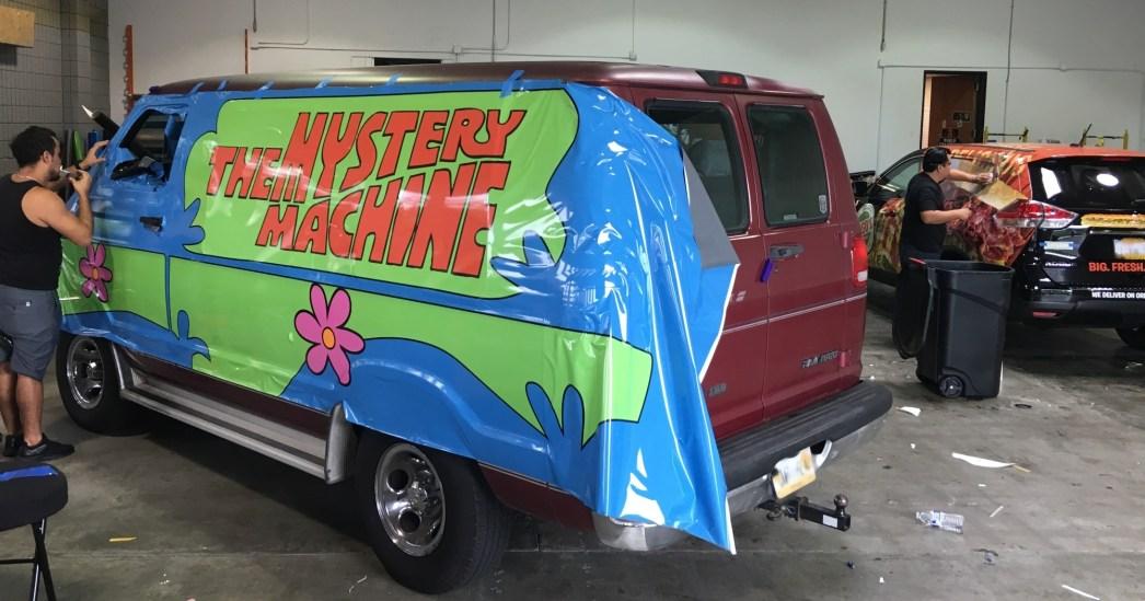 mystery machine car wrap