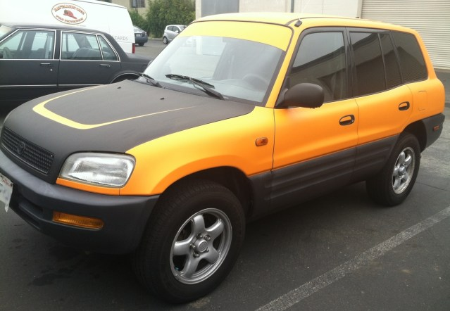 Toyota Yellow Car Wrap-02