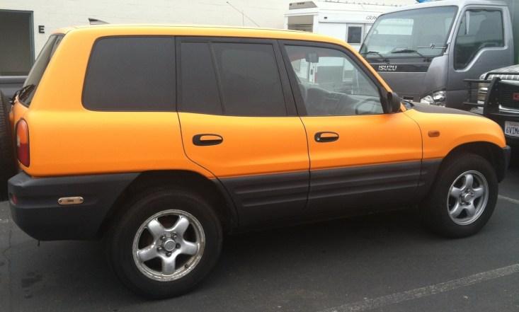 Toyota Yellow Car Wrap