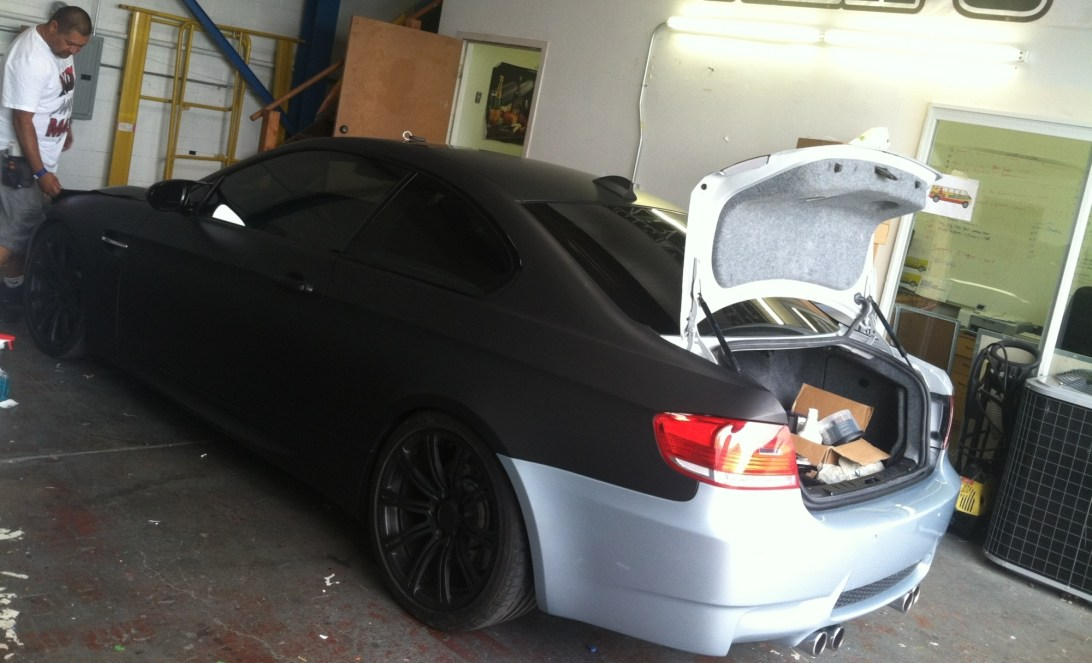 bmw color change silver to matte black-08
