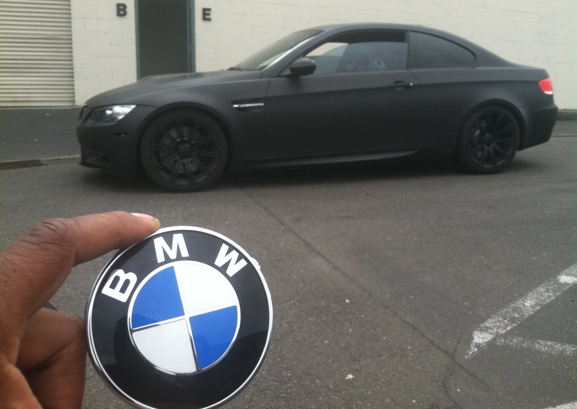 bmw color change silver to matte black-13
