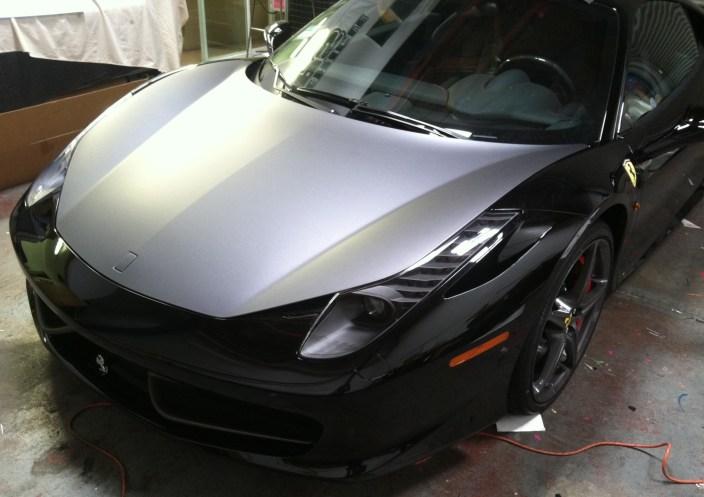 Ferrari Matte Grey Wrap-01