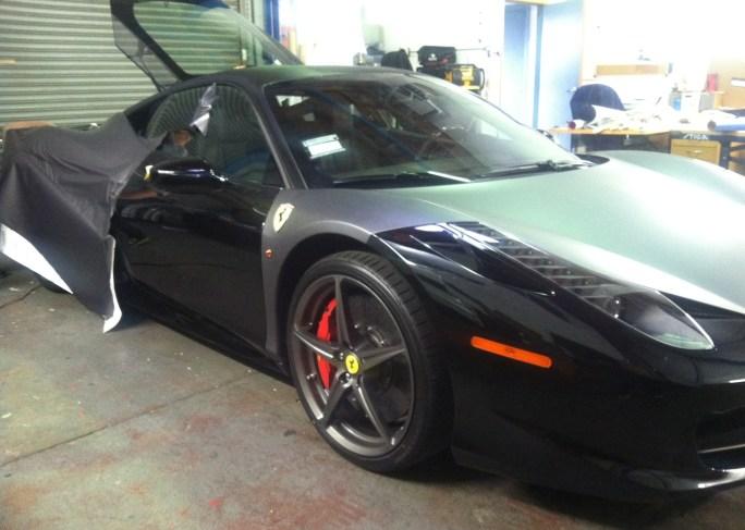 Ferrari Matte Grey Wrap-12