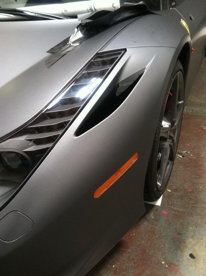 Ferrari Matte Grey Wrap-16
