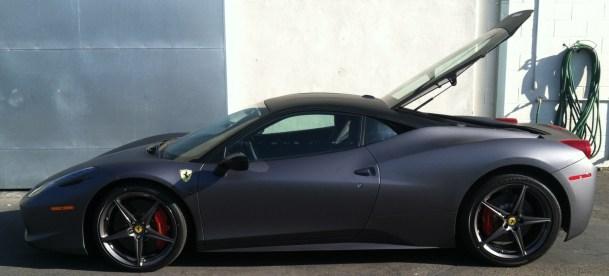 Ferrari Matte Grey Wrap-25
