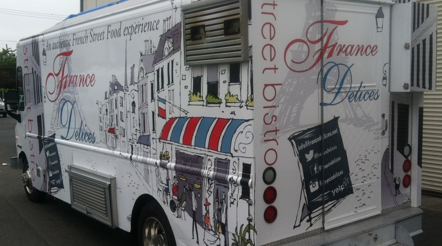 France Delices Food Truck Wrap