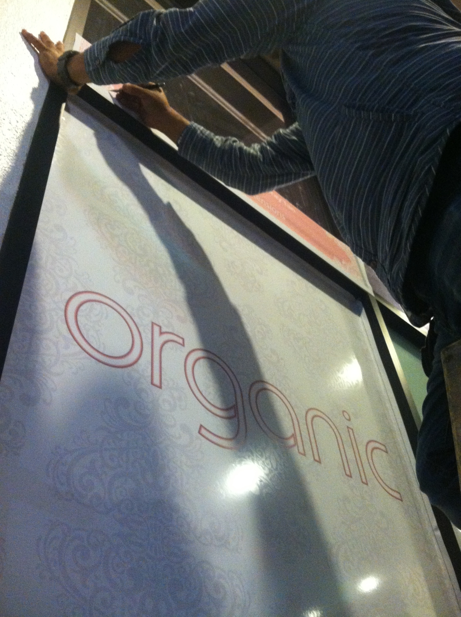 organic shimmer wall wrap