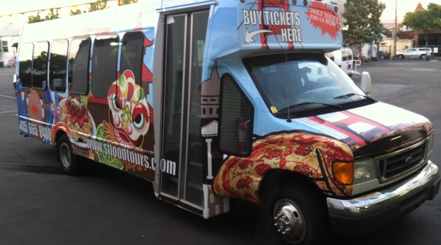 San Francisco Food Tours Bus Wrap