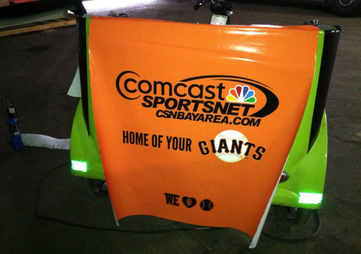 comcast giants cart wrap