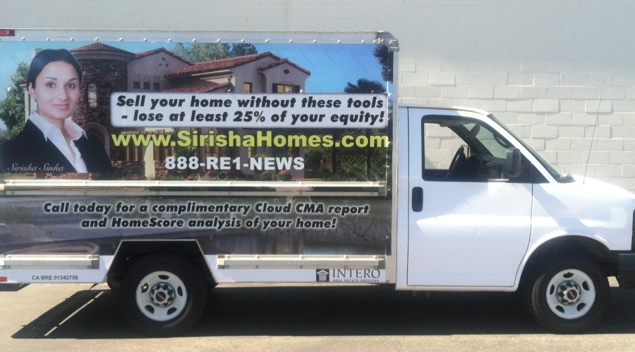 Sirisha Homes Box Truck Wrap