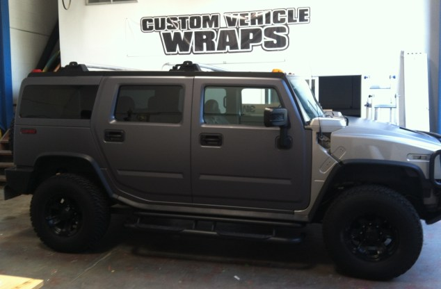matte black hummer wrap-09