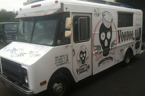 Voodoo Van Food Truck Wrap