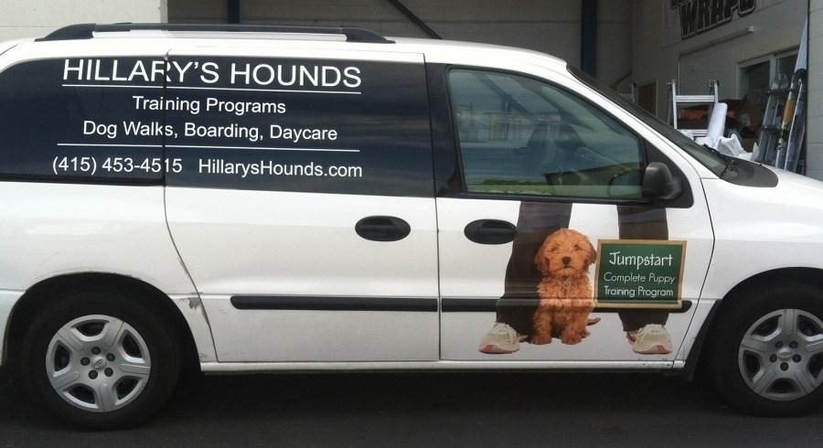 Hillary's Hounds Van Wrap
