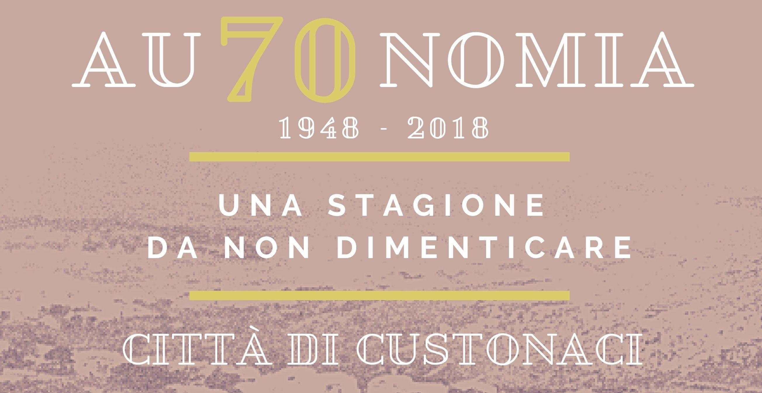 Custonaci: Al via le celebrazioni per i 70 anni di autonomia del comune.