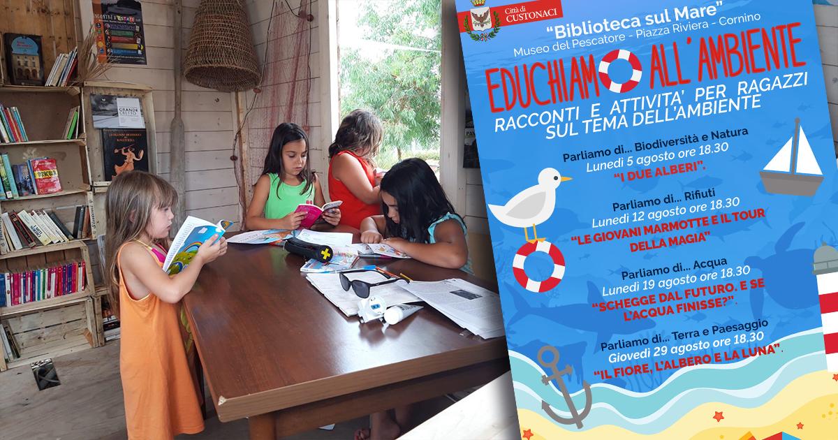 """Custonaci. Alla """"Biblioteca sul Mare"""" un ciclo di racconti per bambini e ragazzi sull'Ambiente."""