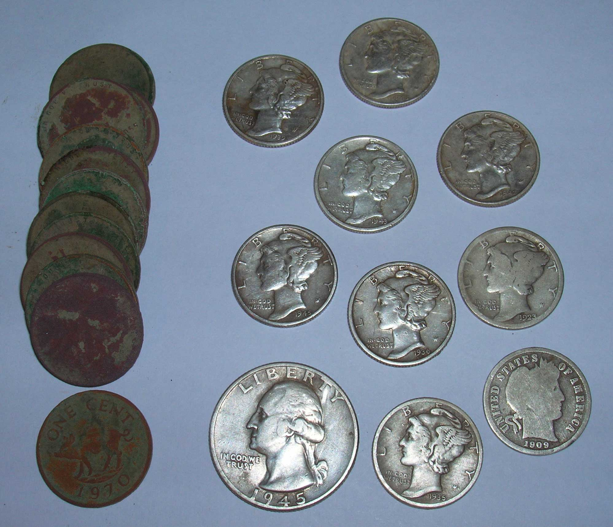 10 Silver Coin Day From Public Park Metal Detecting