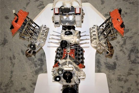 Hellcat Engine Exploded Display