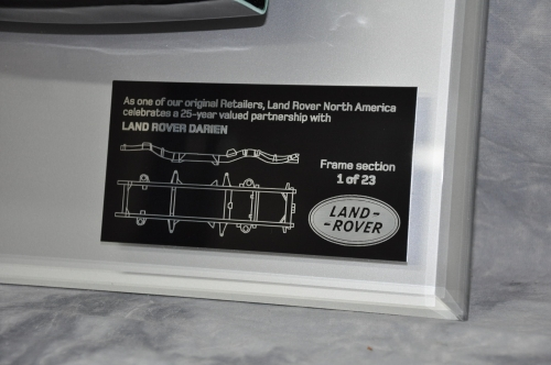 Land Rover Frame Section Plaques