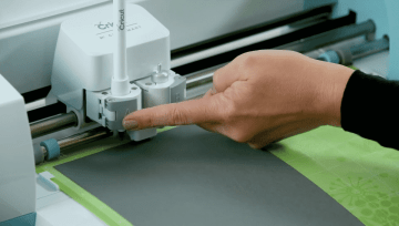 Inserting an accessory into the Cricut Explore Air 2