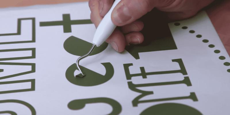 Weeding Vinyl: How to Weed Vinyl & Words | Cut, Cut, Craft!