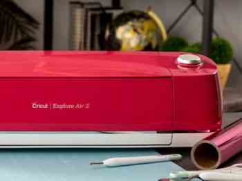A look at the best vinyl cutting machines, featuring the Cricut Explore Air 2