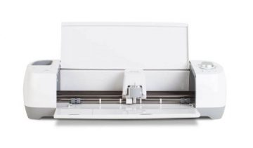 The Cricut Explore One opens to reveal its single tool head.