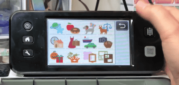 There are hundreds of designs accessible on the Scan N Cut 2 touchscreen.