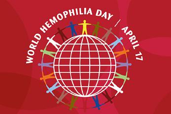 Logo of the World Hemophilia Day
