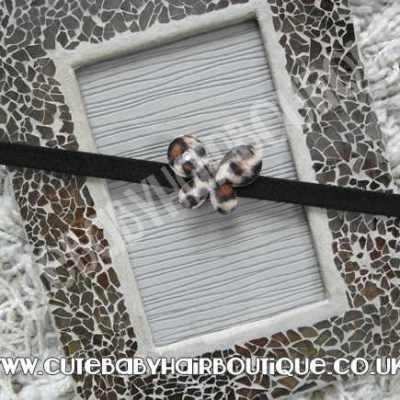 brown animal print headband