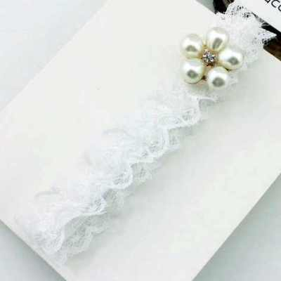 lace headband with pearl flower
