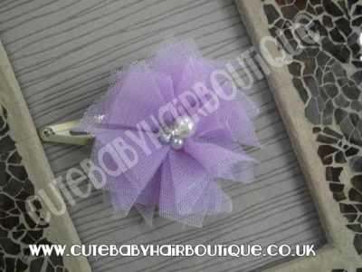 lilac-tulle-flower-hair-clip