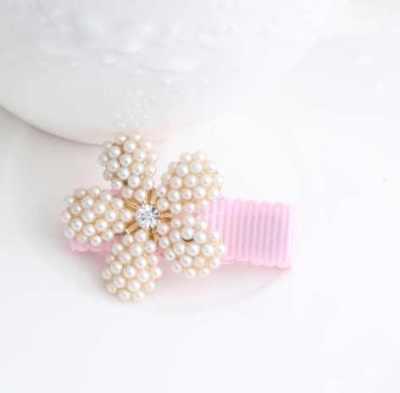 Pearl Baby Hair Clip flower