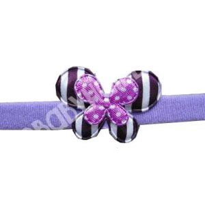 Purple Butterfly Baby Headband With Stripes
