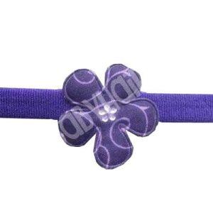 Purple Swirl Flower Baby Headband