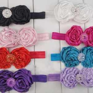 rossette flower headband for girls