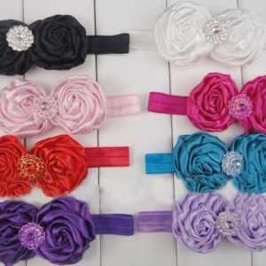 rossette flower headband for girls