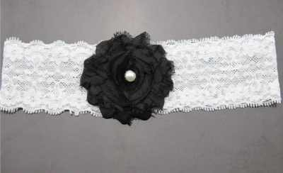 black lace baby headband for babies